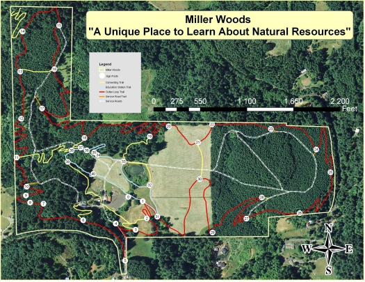 Miller Woods Trail Map