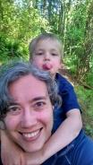 K and me on the Gettman Loop Trail
