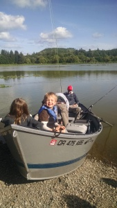 Fishing on Vernonia Lake, OR