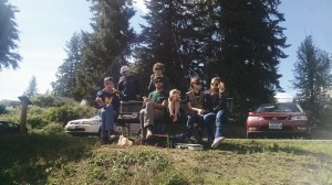 Picnic next to Vernonia Lake, OR