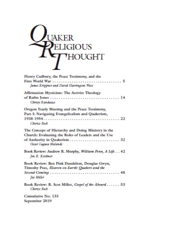 QRT Cover Fall 2019